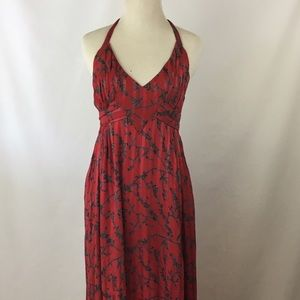 Anthropologie Maple halter and bow dress